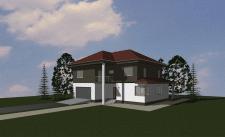 3D модель индивидуального жилого дома в ArchiCAD