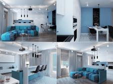 Дизайн современной квартиры для молодой пары.