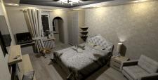 Двокімнатна квартира в НБ, 62 кв.м., спальня вид 1
