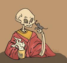 Скелет з мишеням