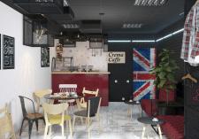 Интерьер кофейни для сети Crema Caffe г.Киев