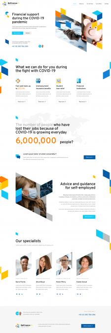 Сайт-визитка, корпоративный сайт организации услуг