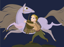 Alexander the Great with Butsefal