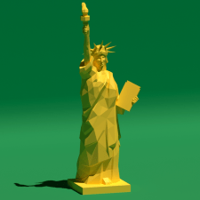 The Statue of Liberty (Low Poly) #papercraft