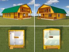 Моделирование домов из бруса для сайта