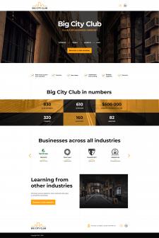 Дизайн главной страницы сайта Big City Club + лого