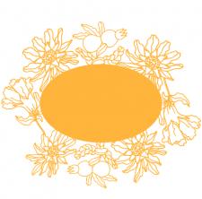 цветущие плоды граната с надписью