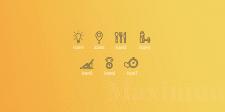 """Набор иконок для фитнес проекта """"Выжми Maximum"""""""