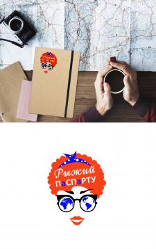 """Логотип для тревел блога """"Рыжий Паспарту"""""""