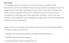 Text for a corporate website
