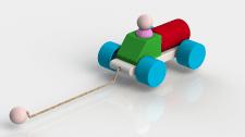 Машинка игрушка для 3d печати.