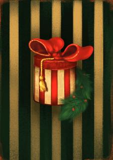 Новогодняя иллюстрация Gift box