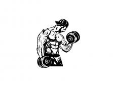 Принт на тему Фитнеса