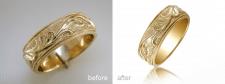 Обработка фото золотого кольца