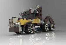 Konstruktion 3d LEGO LKW
