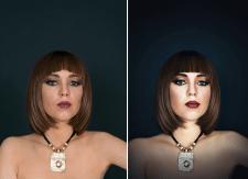 Повышенная ретушь в студии (до/после)