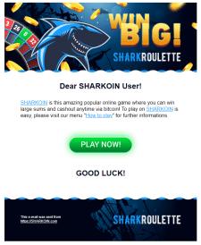 Верстка письма для SharkRoulette