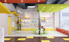 дизайн-проект интерьеров магазина детской одежды