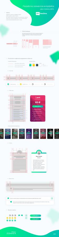 Проектирование элементов интерфейса MyResume