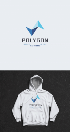 Polygon school - Logo design