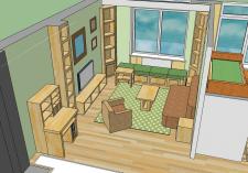 Интерьер 2-х комнатной квартиры.