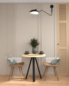 Дизайн-проект квартиры,35 кв.м.Париж