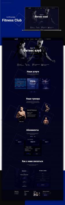 Fitness club website design