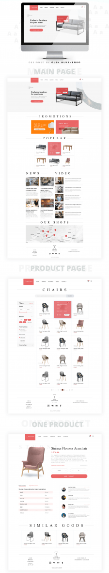 Дизайн сайта по продаже мебели