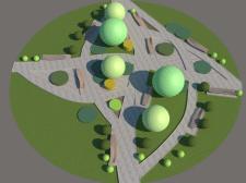 Ландшафтний дизайн фрагменту міста