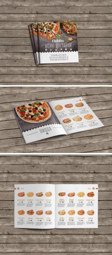 Дизайн меню доставки