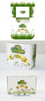 Дизайн упаковки сока ростков пшеницы Vitavim