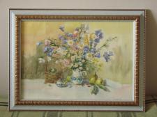 Работа Акварелью _ Натюрморт с цветами
