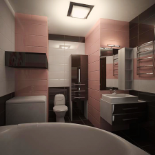 проект ванной в вариантах