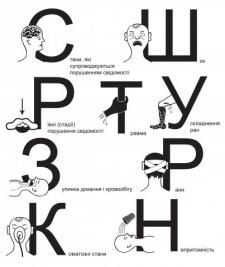Буквицы для книги по мед. помощи
