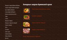 Заполнение сайта ресторана Эриван