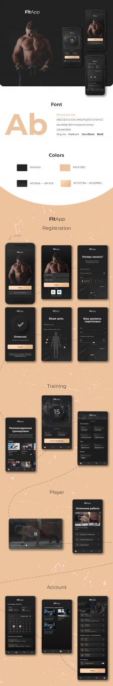 Дизайн мобильного приложения (фитнес)
