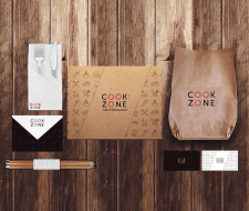 Logo & Full branding for COOK ZONE