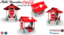 Pallet Decoration Coca Cola (with Metal Roof Tile)