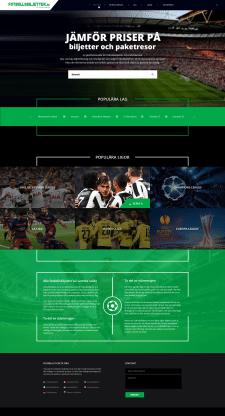 Дизайн сайта Footbollsbiljetter