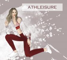 Фешн-иллюстрация для сайта спортивной одежды