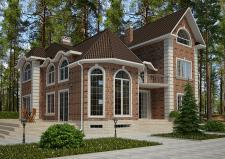 Фасады дома в английском стиле I