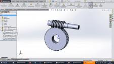 Shaft,gears, bolt, nut etc(Solidworks)