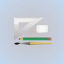 Set of education icons, pencil