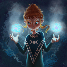 Иллюстрация ведьмочка Мона