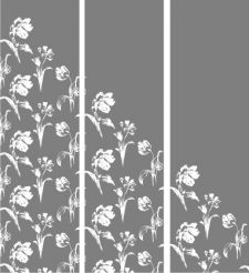 Шаблон под пескоструй - Тюльпаны