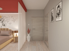3D visualization bedroom for a girl