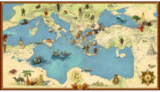 Карта Средиземья_ путешествие Аргонавтов