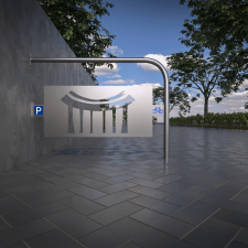 Visualization of several design bicycle parking