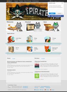 Дизайн сайта платформы ZZWolf