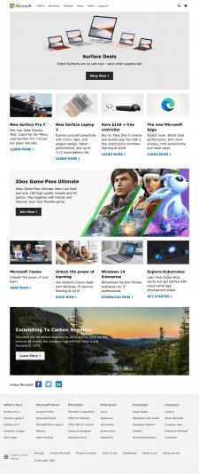 Повністю адаптивний клон сайту Microsoft